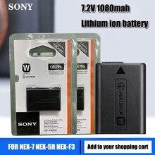 Original da Sony 7.2v NP NP-FW50 FW50 NPFW50 1080mah Bateria De Lítio Recarregável NEX-7 NEX-5R NEX-F3 NEX-3D Alpha a7II Câmera celular