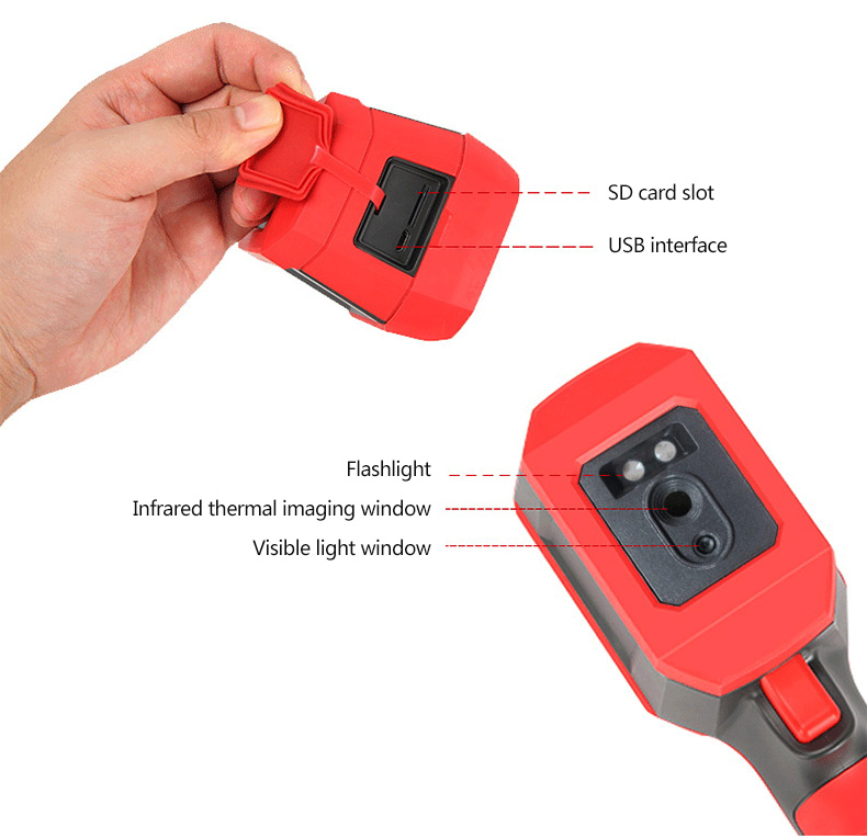 Mini Infrared Thermal Imaging Camera With Type-C USB Interface for Lithium Battery Charging 18