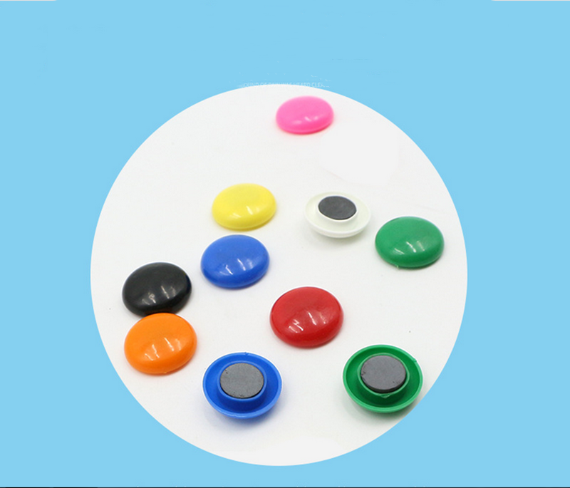 12 Pieces  Whiteboard Office Color Round Magnetic Buckle 30mm