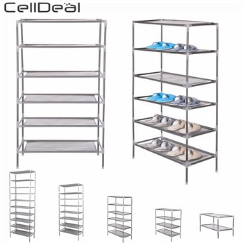 CellDeal 2/4/6/8/10 Tiers Non-Woven Fabric Dustproof Shoe Rack Storage Organizer Cover Cabinet Shelf Cabinet 6/12/18/24/30 Pairs 1