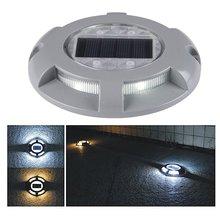 Практичный алюминиевый светодиодный светильник на солнечной батарее для улицы, дорожка для подъездной дорожки, наземный светильник, естественная зарядка от солнца