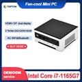 Topton Günstigste i7 i9 Mini PC Intel Core i7 1165G7 i9 10880H Windows 10 Barebone Desktop-Computer 2 * DDR4 4K HTPC minipc 2 Nics