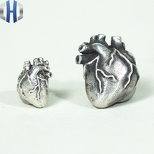 Original Design Handmade Silver Personality Heart Earrings 925 Small Wild Simple