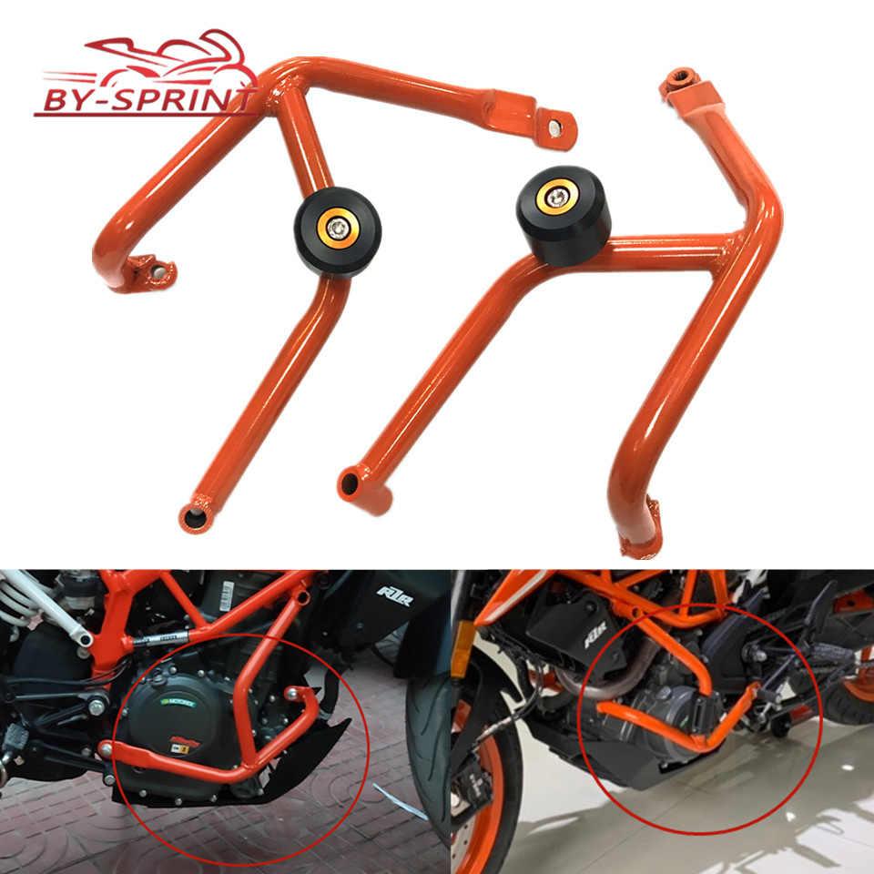Moto Per KTM DUKE 250 DUKE duke 390 250 390 2013-2016 2017 2018 Arancione Paraurti Motore Guard Crash bar Slider Protector