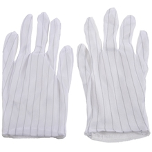 1 пара антистатические противоскользящие перчатки ESD PC компьютер электронные рабочие белые Новые