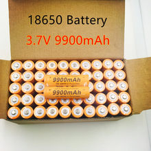 2020 lot 18650 3.7v bateria 9900mAh akumulator latarka na baterie bateria + bezpłatna wysyłka