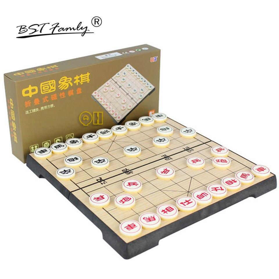 Plástica e Peças com Dobrável Caçoa o Presente Bstfamly Chinês Xiang Caixa Magnética Xadrez Checkboard 32 Pçs – Set C05 Puzzle Game qi