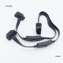 FINETRIPFull cable de extensión OBD2 2 en 1, accesorio con interruptor Y divisor, adaptador de Macho a hembra doble obd, 16 pines