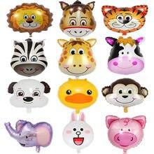 1PC Dschungel Tier Folie Luftballons Spielzeug Luftballons Luft Helium Balon 1st Geburtstag Party Dekoration Kinder Baby Dusche Zoo Thema liefert