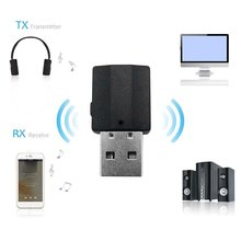 2 In1 Bluetooth 5.0 Audio Receiver Transmitter Wireless Adapter Mini 3.5mm AUX Stereo