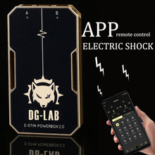 App remote control electro-stimulation electro shock dual outlet DIY power supply, medical themed sex toys for couples sex products