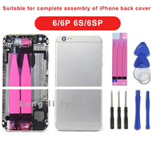 Suitable for Iphone 6G 6Plus 6S 6S Plus complete shell, rear middle frame shell complete shell assembly, battery glue.