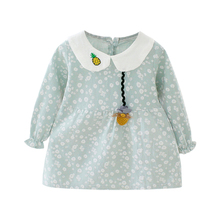 New Baby Girl Dress 0-3T Cute Clothes Toddler Floral Print Girls Dresses Fashion Pineapple Pattern Embroidery