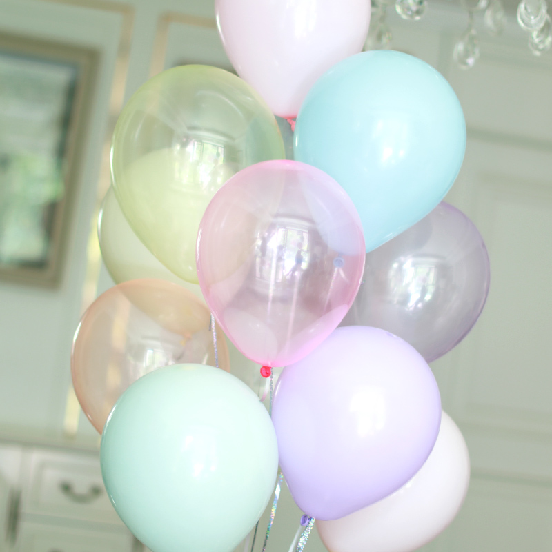 Transparent Balloons <font><b>10</b></font> inch 30pcs Crystal Color Bubble Balloon Wedding Supplies Macaron Balloon <font><b>Birthday</b></font> <font><b>Decoration</b></font> Round Ball image