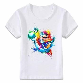 T-Shirt Mario Yoshi Arc en ciel Unisexe Enfants