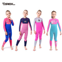 3MM neoprene Wetsuit for girls diving suit thick Cold proof Sun proof wetsuit one piece set children Surfing snorkeling swimwear