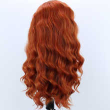 Rongduoyi Ash Brown Heat Resistant Fiber Hair Synthetic Lace Front Wig Long Wavy Cosplay 13x3 Lace Wigs For Women with Side Part