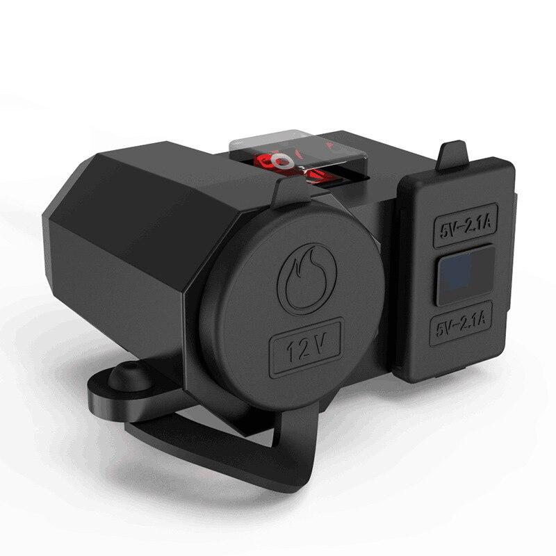 Мотоцикл изменение Бортовая навигация Зарядное устройство USB для мобильного телефона ездить по 12V водонепроницаемое автомобильное зарядно