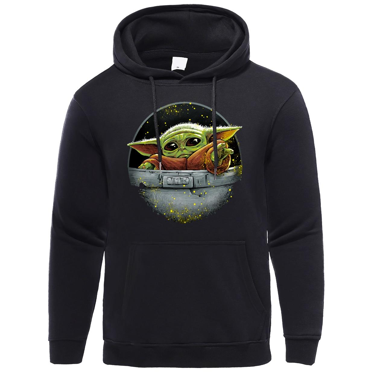 Mandalorian Streetwear Hip Hop  Men Hoodies New Spring Winter 2020 Casual Pullover Fleece Male Baby Yoda Fashion Hooded