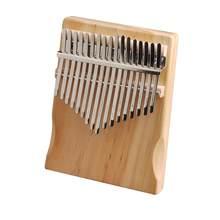 Piano à doigts Kalimba de haute qualité pour débutant, Instrument de musique en pin à 17 touches