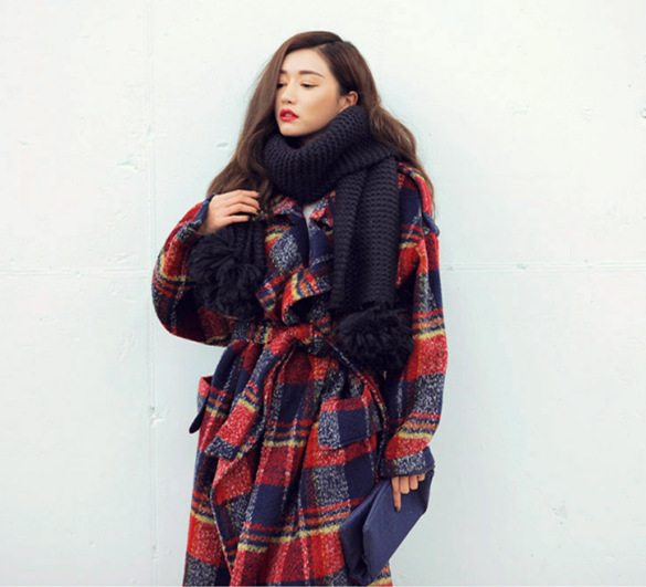 2020 Spring Turn Down Collar Women Woolen Coat With Belt Elegant Thick Wool Jacket Women Autumn Long Coat Casaco Feminino