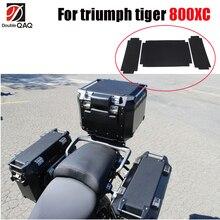 Dla triumph tiger 800XC motocykle boczne skrzynki klocki sakwa pokrywa dla Givi outback trekker bagaż 37L bagażnik