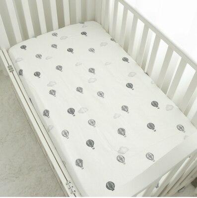 Хлопок, простыня для кроватки, мягкий матрас для детской кровати, защитный чехол, мультяшное постельное белье для новорожденных - Цвет: 4