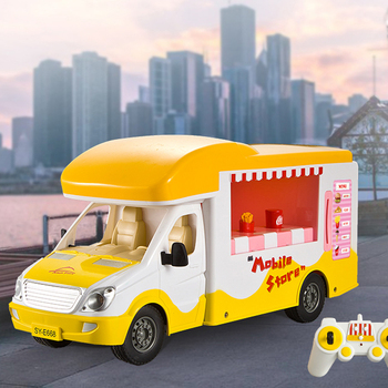 New RC Car 2.4G Self-service Sales Car simulation intelligent coin-operated experience real shopping toy children's Toys RC Car image