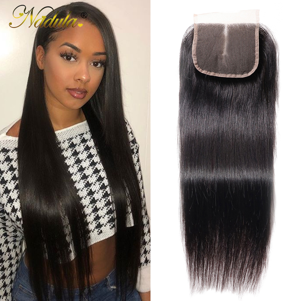 Nadula Hair HD Lace Closure Middle/Free Part Closure Indian Straight Hair Natural Color  Hair 10-20Inch Swiss Lace Closure 1