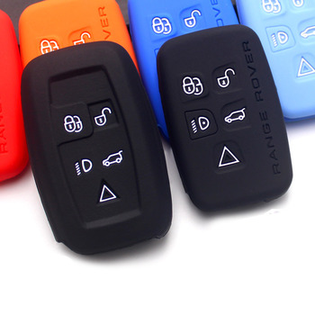 Car Silicone Key Case For Land Rover Range Rover Aurora Freelander 2 Discovery 4 Old Range Rover Sport Silicone Key Accessories autotime машинка land rover range rover sport jeans 3 autotime