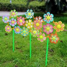 2 uds., molino de viento de flores, Spinner, molinete, para el hogar decoración de jardín, juguetes para niños, decoración al aire libre, juguetes para niños, decoración maravillosa para el jardín