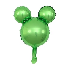 GIHOO 5/10pcs Mini Mickey Head Aluminum Foil Balloons Minnie Mickey Toys 30x45cm Cartoon Balloon Child Birthday Party Decoration