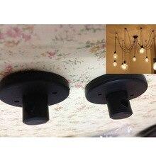 Czarny biały 2 kolor części do żyrandola, części lampy wiszące darmowa wysyłka, montaż żyrandol 45mm średnica sufitu wzrosła
