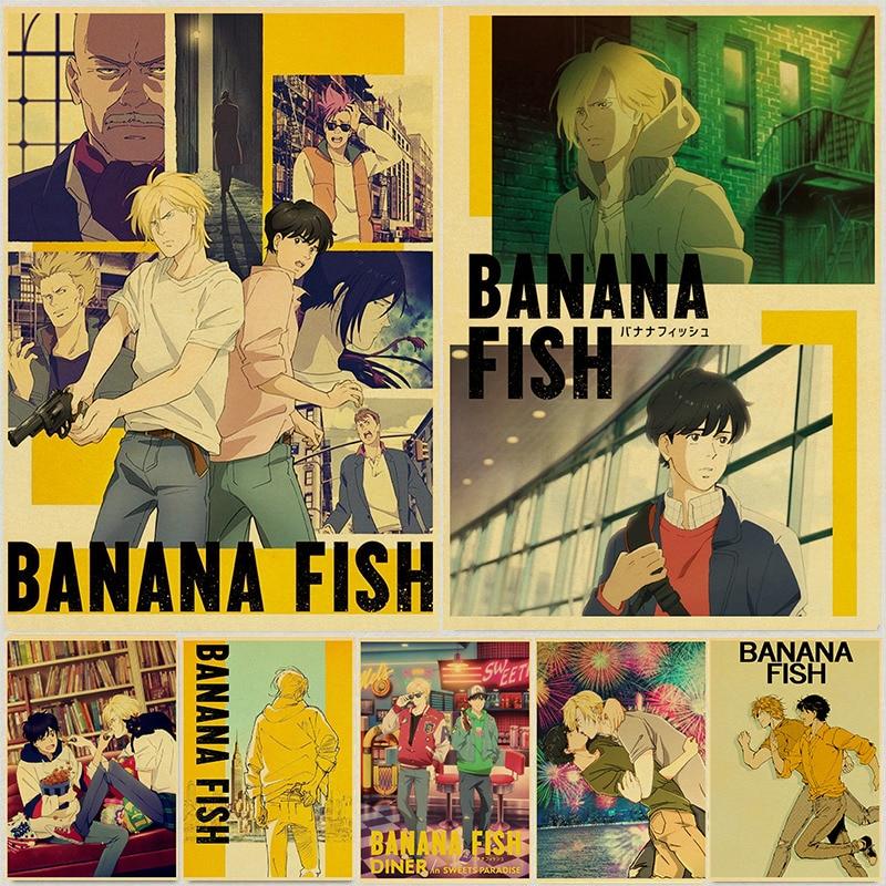 Japanese Anime Banana fish Retro Posters Art Movie Painting Kraft Paper Prints Home Room Decor Wall Stickers