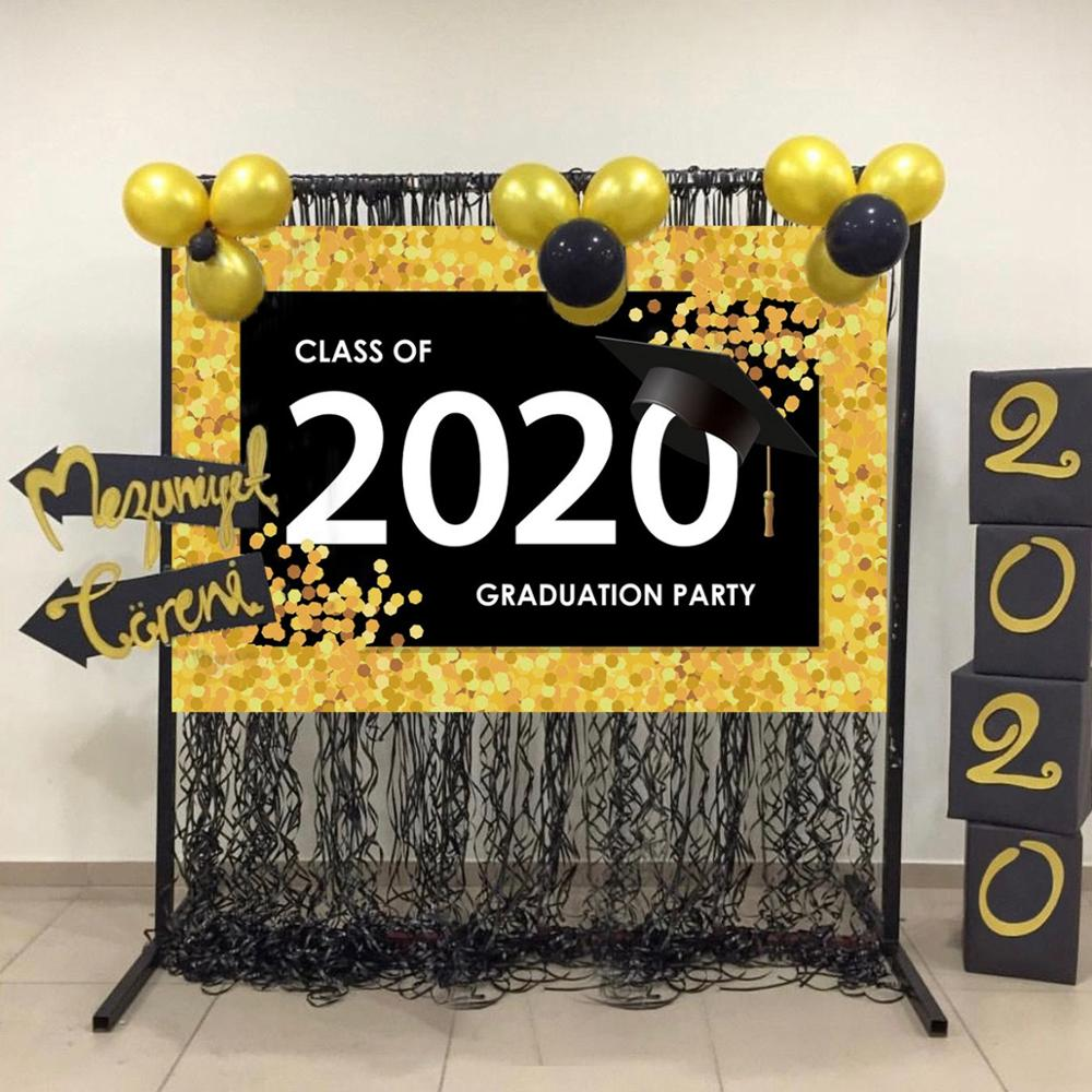 Huiran 2020 Balloons Graduation Party Decoration Graduation Photo Booth Props Graduated Class Of 2020 Party Supplies Photobooth