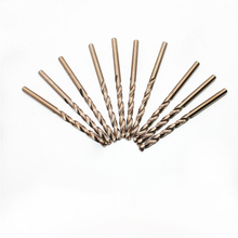 цена на 0.8mm 0.9mm 1mm - 5mm -10mm - 16mm HSS-CO M35 Cobalt Steel Straight Shank Twist Drill Bits For Stainless Steel Free Shipping