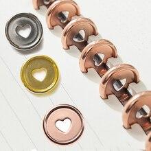 6PCS Heart Rings Plastic Mushroom Hole Loose Leaf Ring Book  Colorful Round Binding Disc Buckle Hoop DIY Binder Notebook Office