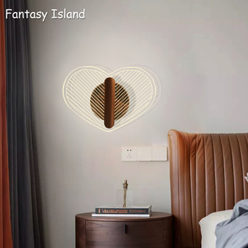 Heart Circle Wall Lamps Sconce Bedroom Home Modern Bathroom Indoor Lighting Sconces luminaire Deco Stairs LED Lights