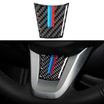 Carbon Fiber Car Interior Decoration Stickers Steering Wheel Emblem Sticker Decals Auto Car Accessories For BMW Z4 E89 2009-2015 image