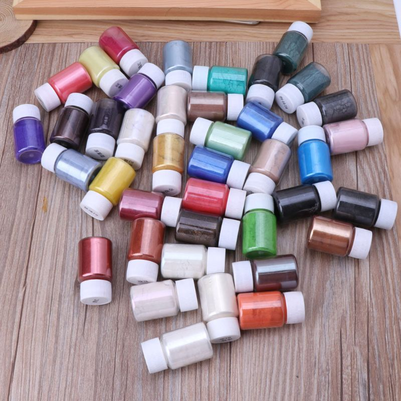 41Color Pearl Mica Powder Epoxy Resin Colorant Dye Pearl Pigment Jewelry Making 5