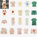 Брендовые летние детские футболки MR, коллекция 2021 года, футболки для маленьких девочек и мальчиков с изображением мультяшной лошади, тигра, ...
