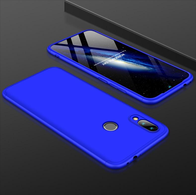 H09c4953c64b04b488e0cf5a2a2beaf1bA 3-in-1 Plastic Hard 360 Tempered Glass + Case for Xiaomi Redmi Note 7 Anti-Shock Back Cover Case for Xiaomi Redmi Note 7 Pro 7A