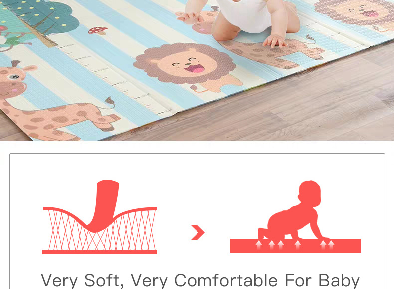 H09c4a121005f4508bf266be360363e930 Miamumi Portable Baby Play Mat XPE Foam Double Sided Playmat Home Game Puzzle Blanket Folding Mat for Infants Kids' Carpet Rug