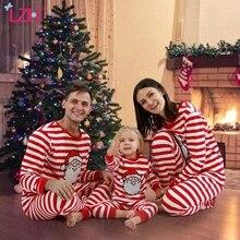 Family Matching Pajamas Parent-Child-Suit New Winter Autumn Print Fashion LZH Santa-Claus