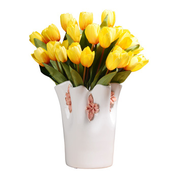 Nordic Style Ceramic Arts Flower Vase Simulation Dried Flowers Floral Organ Ceramic Crafts Home Decoration Office R3097