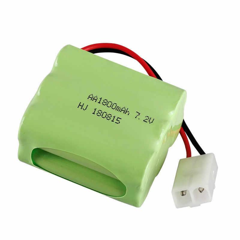 Upgrade 7.2v 1800mah NiMH Battery For Rc Toys Cars Tanks Truck Robot Gun Boats AA Ni-MH 7.2v Rechargeable Battery 1pcs to 10 pcs