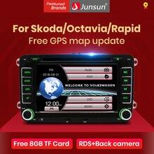 """Junsun 2 din 7 """"araç DVD oynatıcı radyo multimedya oynatıcı VW/Skoda/Octavia/Fabia/hızlı/yeti/koltuk/Leon GPS navigasyon araba ses stereo"""