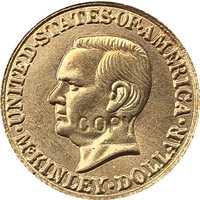 24 K Gola-bañado en EE. UU. 1916 1 dólar moneda copia 15mm