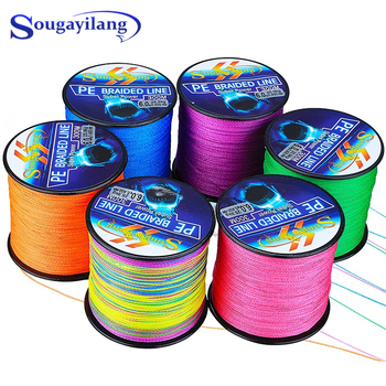 Sougayilang 4 Strands Braided Fishing Line 0.6-8.0# 300M PE Fishing Line 6.3-32.8kg Multifilament Fishing Line Smooth Pesca 300m braided fishing line 4 strands pe line multifilament saltwater freshwater 12 80lb smooth floating wire