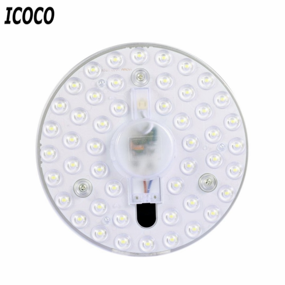 18W/24W LED Panel Light Round Ceiling Lamp Modified Lamp Board Light Source Board LED Round Light Source With Lens Module